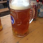 An enormous Hofbrau House beer consumed post-dysfunction Christmas this year. Image by Suzanne Titkemeyer