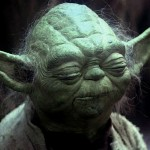 Screen cap of Yoda from the original Star Wars trilogy.