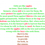 Women Are NOT Like Apples!