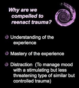 Reenact trauma