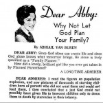 Quoting Quiverfull – Dear Abby?