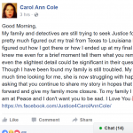 Examining Teen Homes: Is Justice Delayed Justice At All For Carol Ann Cole?