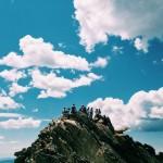 People on rocks