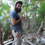 Taking a break from latrine-building in Haiti