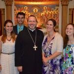 Mary Catherine, Basil, Fr Joseph, Kh Elizabeth, Helen.