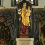 And a statue of Our Lady of Glastonbury above the altar.