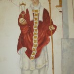 Abbot Richard Whiting, hung, drawn and quartered on Glastonbury Tor, is portrayed holding a reliquary containing a thorn from Our Lord's crucifixion crown.