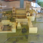This is a model of what Glastonbury Abbey looked like before its destruction under Henry VIII.