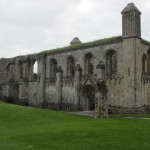 When it was destroyed, the only thing left standing (other than the Abbot's Kitchen) was the older building which formed the far western half of the Abbey, St Mary's Chapel (which is dedicated to St Joseph of Arimathea).