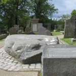 This stone marks the grave of St Patrick (alongside St Brigid and St Columba).