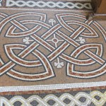The floor mosaics:  shamrocks & serpentine designs.