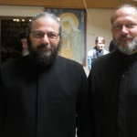 His Eminence, Metropolitan Ignatius and me in the foyer of the main refectory.