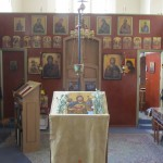 Inside the small but venerable house of prayer.