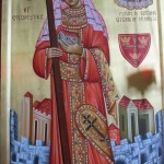 Helen is the Patron Saint of the city -- this is the icon of St Helen of Colchester.