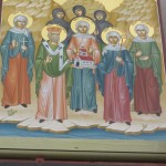 The Saints of Barking:  Erkenwald, Ethelburga, Hildelith, Theogirth, Cuthburga, Cwenburga, Wulfhilda -- and the nuns martyred by the Danes in 870.  [Barking Abby was founded in the middle of the 7th c. in the lands of the East Saxons.  These were later counties of Essex and Middlesex, with parts of Hertfordshire and Surrey.  At first it was known as the Monastery of St Mary, later as the Monastery of St Mary and St Ethelburga.