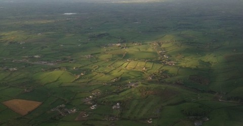I'd heard it was green, but flying into Ireland offered beautiful confirmation.