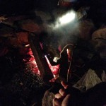 Toasting a marshmallow at the retreat, because sometimes self-care looks like indulgence. photo courtesy of the author