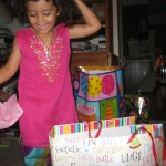 Opening presents on Eid, an important Muslim holiday. photo courtesy of the author