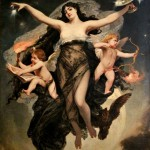 The Night Escorted by the Geniuses of Love and Study (1886) - Pedro Américo