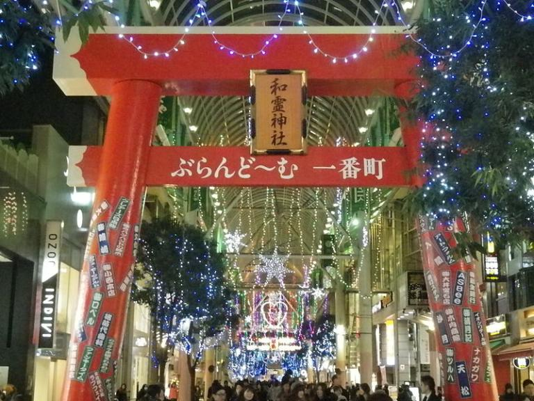 christmas and new year decorations in sendai japan public domain via wikimedia commons