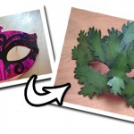 Make a Recycled Green Man Mask