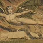 """""""Satan Exulting over Eve"""" by William Blake.  From WikiMedia."""
