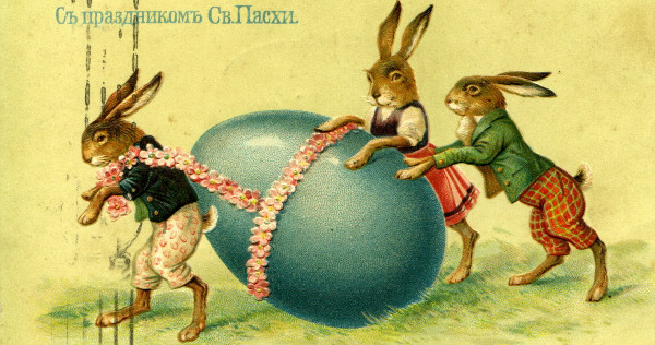 Old Russian Easter Postcard, from Wikimedia.