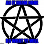 The Rede of the Wicca