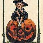 vintage-halloween-little-girl-witch-pumpkin-black-cat-card1