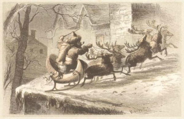 Santa by F. O. C. Darley  back in 1862.  From WikiMedia.  CC License.