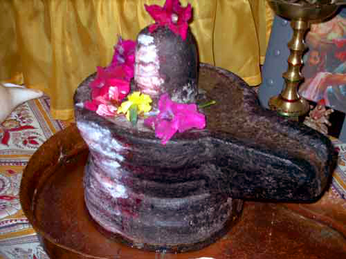Shiva Lingam, photo by Christian Weiss via WikiMedia.  CC License.