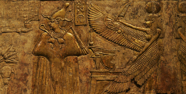 Osiris and Isis, from the Louvre.  Photo by Rama, CC License.
