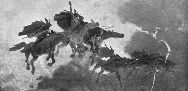 Ride of the Valkyries by John Charles Dolman.  From WikiMedia.