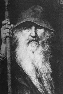 """Odin the Wanderer"" by Georg von Rosen.  From WikiMedia."