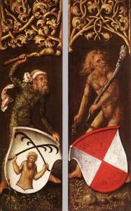 Wild Men by Albrecht Dürer. From WikiMedia.