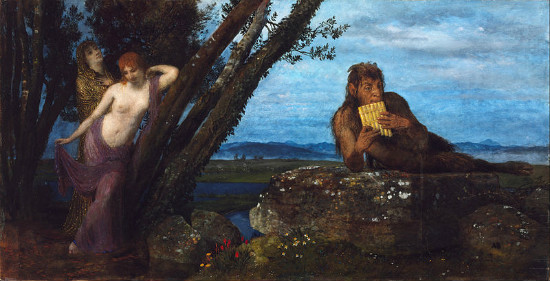 """Spring Evening"" by Arnold Böcklin.  From WikiMedia."