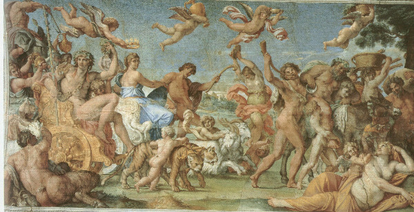 """The Triumph of Bacchus and Ariadne"" by Annibale Caracci.  From WikiMedia."