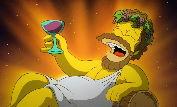 Rupert Murdoch sucks, but his network gave me this image of Homer as Dionysus.