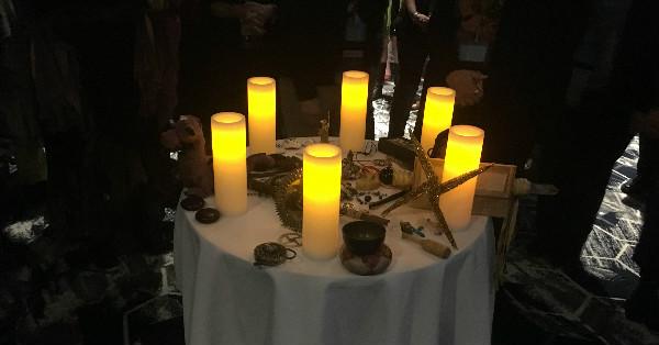 Altar at Selena's Ritual.