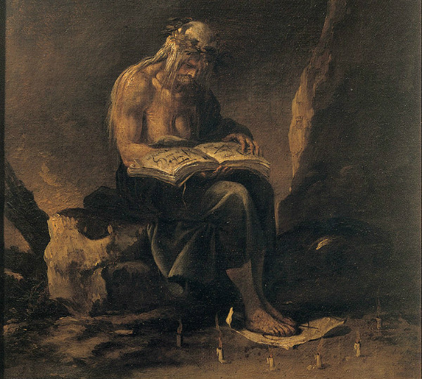 """A Witch"" by Salvator Rosa."