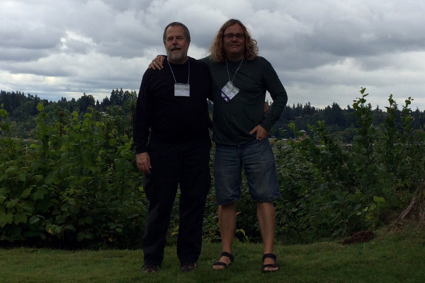 John Beckett & I at Many Gods West last year.