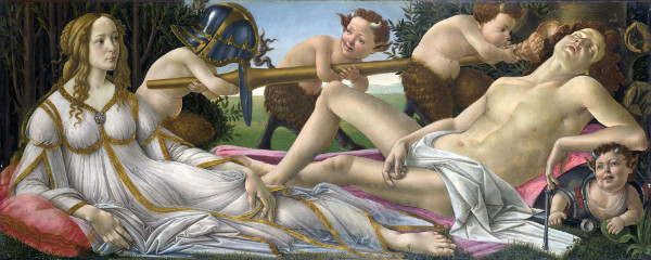 """Venus and Mars"" by Sandro Botticelli.  From WikiMedia."