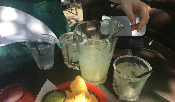 Outdoor margaritas are always fun!