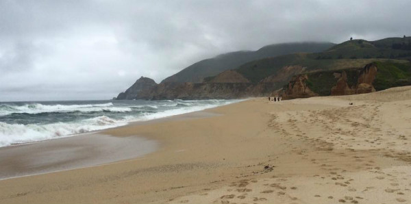 Montara State Beach, near Half Moon Bay CA.  This is Ari and I's beach.