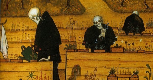 """The Garden of Death"" by Hugo Simberg.  From WikiMedia."