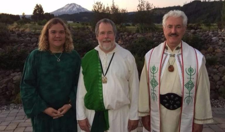 Me, John, and Kirk.  Sadly, my Witch robe lacks the cool sash of a Druid one.