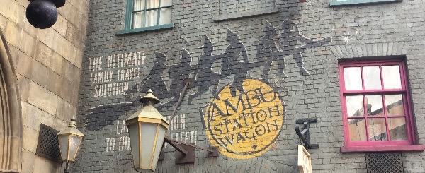 Add leading in and out of Diagon Alley.  Of course I took pictures of anything Witch related.