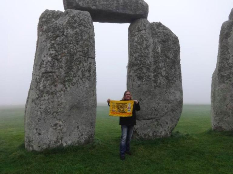 That's me with my Terrible Towel at Stonehenge.