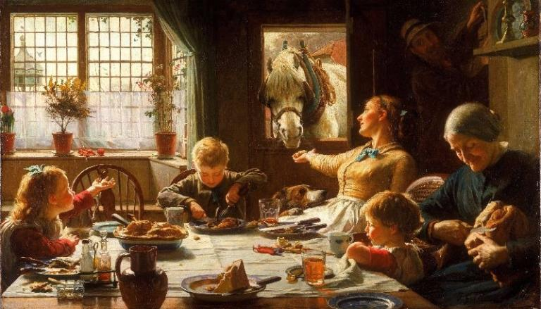 """One of the Family"" by Frederick George Cotman."