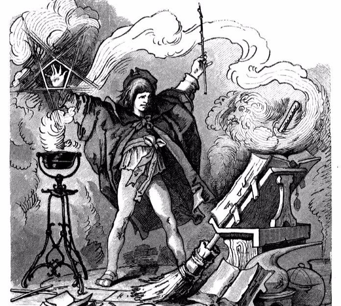 """""""Der Zauberlehrling"""" by Ferdinand Barth (Künstler) .  From WikiMedia."""